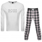 BOSS Bodywear Logo Cosy Pyjama Set White