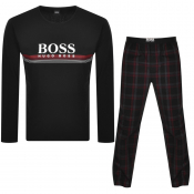 BOSS Bodywear Logo Cosy Pyjama Set Black