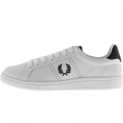 Fred Perry B721 Leather Trainers White