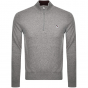 PS By Paul Smith Half Zip Knit Jumper Grey