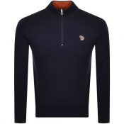 PS By Paul Smith Half Zip Knit Jumper Navy