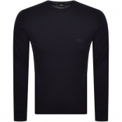 BOSS Pacas L Knit Jumper Navy