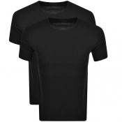 BOSS 2 Pack Crew Neck T Shirts Black