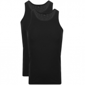 BOSS Double Pack Vest T Shirts Black