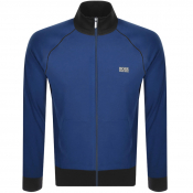 BOSS Bodywear Lounge Full Zip Sweatshirt Blue