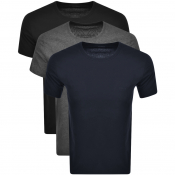 BOSS Multi Colour Triple Pack T Shirts