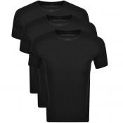 BOSS Bodywear Triple Pack Crew Neck T Shirts Black