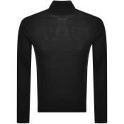 Armani Exchange Wool Roll Neck Knit Jumper Black