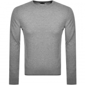 Armani Exchange Crew Neck Knit Jumper Grey