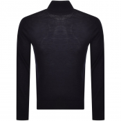 Armani Exchange Wool Roll Neck Knit Jumper Navy