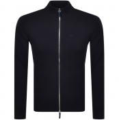 Armani Exchange Full Zip Knit Jumper Navy
