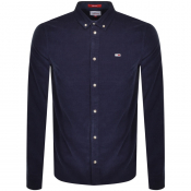 Tommy Jeans Corduroy Long Sleeved Shirt Navy