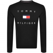 Tommy Hilfiger Flag Crew Neck Sweatshirt Black