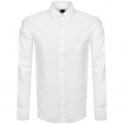 BOSS Mabsoot Long Sleeved Shirt White