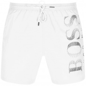 BOSS Octopus Swim Shorts White