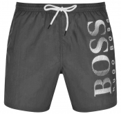 BOSS Octopus Swim Shorts Grey