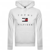Tommy Hilfiger Flag Logo Pullover Hoodie White