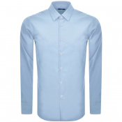 BOSS Isko Slim Fit Long Sleeve Shirt Blue