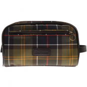 Barbour Tartan Wash Bag Brown