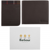 Barbour Wallet Card Holder Gift Set Brown