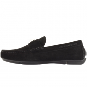 Emporio Armani Suede Driver Shoes Black