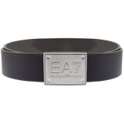 EA7 Emporio Armani Reversible Logo Belt Grey