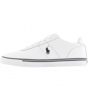 Ralph Lauren Hanford Leather Trainers White