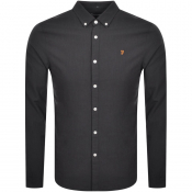 Farah Vintage Brewer Slim Long Sleeve Shirt Grey