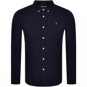 Farah Vintage Fontella Long Sleeve Shirt Navy