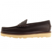 GH Bass Weejun II Larson Leather Loafers Brown