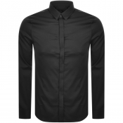 Armani Exchange Slim Fit Long Sleeved Shirt Black
