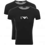 Emporio Armani 2 Pack Lounge T Shirts Black