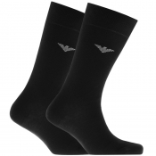 Emporio Armani 2 Pack Socks Black