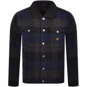 Superdry Check Sherpa Trucker Jacket Navy
