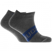BOSS Two Pack Trainer Socks Grey
