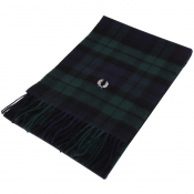 Fred Perry Tartan Scarf Green