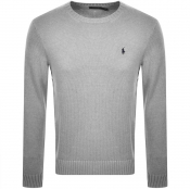 Ralph Lauren Crew Neck Knit Jumper Grey