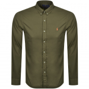 Ralph Lauren Chino Long Sleeved Shirt Khaki