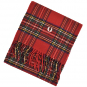 Fred Perry Tartan Scarf Red