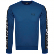 EA7 Emporio Armani Taped Logo Sweatshirt Blue