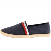 Tommy Hilfiger Summer Canvas Slip on Shoes Navy