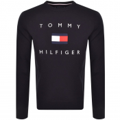 Tommy Hilfiger Flag Crew Neck Sweatshirt Navy