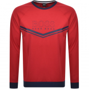 BOSS Bodywear Lounge Crew Neck Sweatshirt Red
