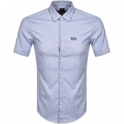 BOSS Baccarini Short Sleeved Shirt Blue