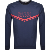 BOSS Bodywear Lounge Crew Neck Sweatshirt Navy