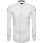 BOSS Joras Slim Fit Long Sleeve Shirt White