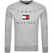 Tommy Hilfiger Flag Crew Neck Sweatshirt Grey