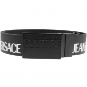 Versace Jeans Couture Leather Logo Belt Black