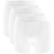 Levis Three Pack Of Boxer Shorts White
