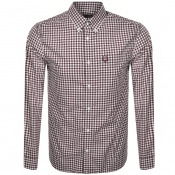 Fred Perry Gingham Check Shirt Mahogany
